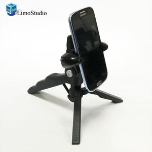 Table Top Mini Video DSLR Camera Tripod Photo Digital Lightweight Hand Small Mini Tripod, Hand Tripod with Cell Phone Holder, AGG1180