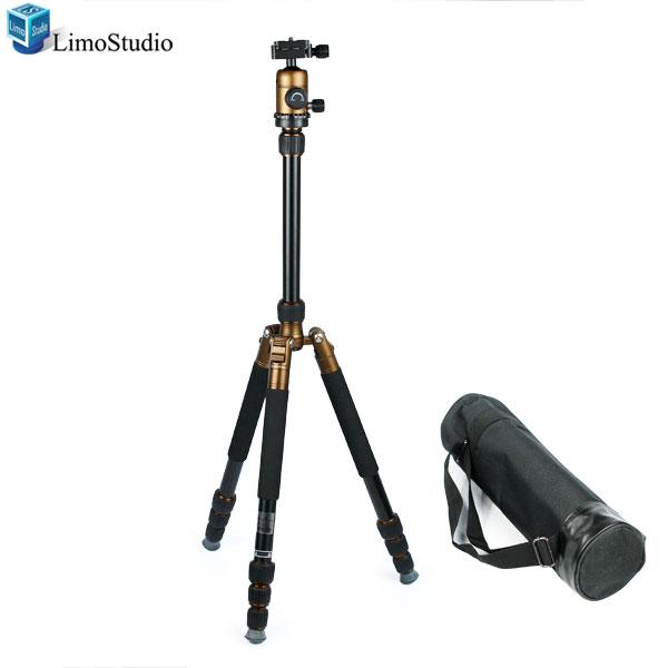 "65"" DSLR Camera Video Compact Carbon Fiber Tripod Monopod with Rotating Ball Head Light weight, AGG1186"