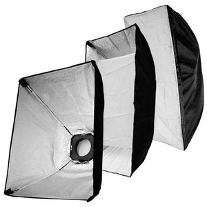 3 of Photo Studio Soft Boxes and 180Watt Flash Lights total 540Watt Kit with Flash Remote Trigger, AGG1201