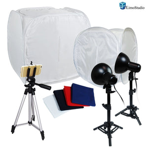"Table Top Photography 30"" 12"" Photo Tent Studio Kit, Portable Studio Lighitng Kit, AGG1207"