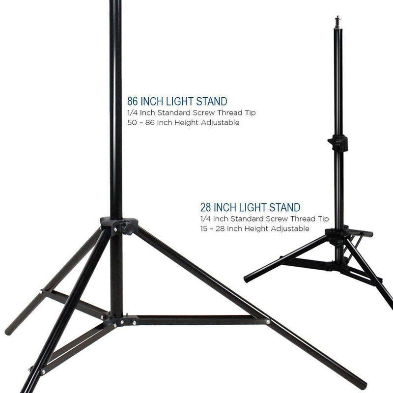 Photography Photo Portrait Studio 600W Triple Continuous Umbrella Lighting Kit - 2x Black / Gold Umbrella Lighting, 1x Table Top Mini Lighting Kit, AGG1212