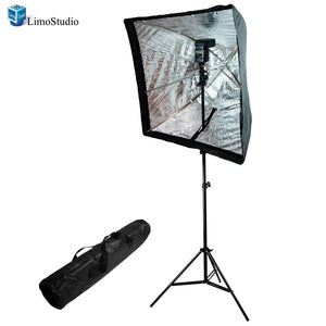 "Photo Studio Flash Sppedlite and 28"" Flash Softbox with 86"" Light Stand Kit, AGG1220"