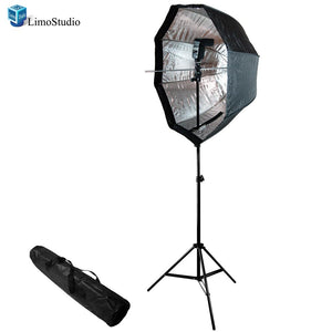 "Photo Studio Flash Speedlite and 33"" Flash Softbox with 86"" Light Stand Kit, AGG1222V2"