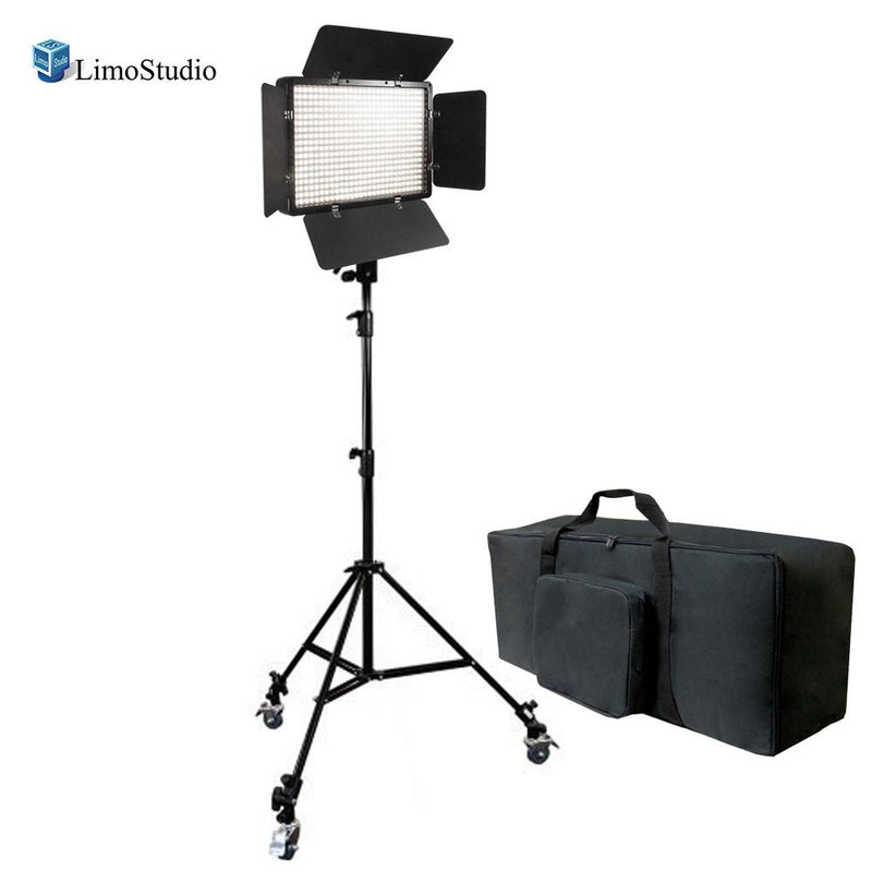 Dimmable 500 LED Photography Photo Video light Panel LED lighting Kit with 3pcs Caster Wheels for Photo Video Studio, AGG1223V2