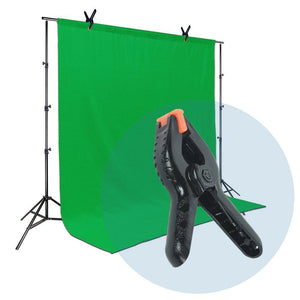 LimoStudio 6 PCS Black Nylon Muslin / Paper Photo Backdrop Background Clamps, 3.75 inch and Hot Shoe Adapter Camera Clamps, AGG1242