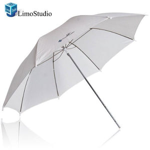 "LimoStudio 33"" White Transparent Photo Umbrella Studio Reflector, SRE1074"