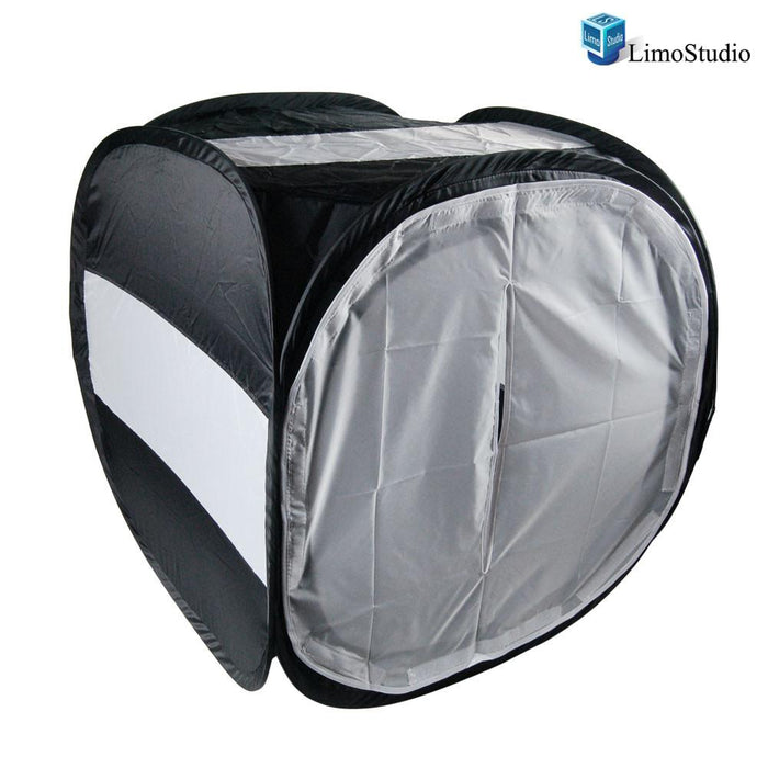 "24"" Black & White Table Top Photo Tent Lighting Kit with Backdrops for Product Photography, Soft Box Light Tent, AGG1251"