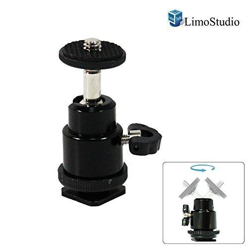 "Photography Clamp, Light Stand Flash Holder, Photography Shoe Mount Clamp Flash Light with 1/4"" Screw Mount, AGG1252"