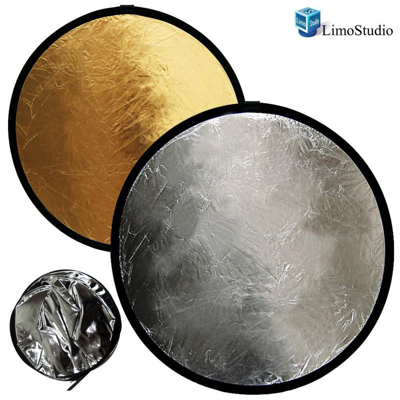 2-in-1 24 Inch Photo Lighting Reflector, Collapsible Disc Reflector, Video Lighting Modifier Studo Photography Reflector Disc Panel, AGG1255