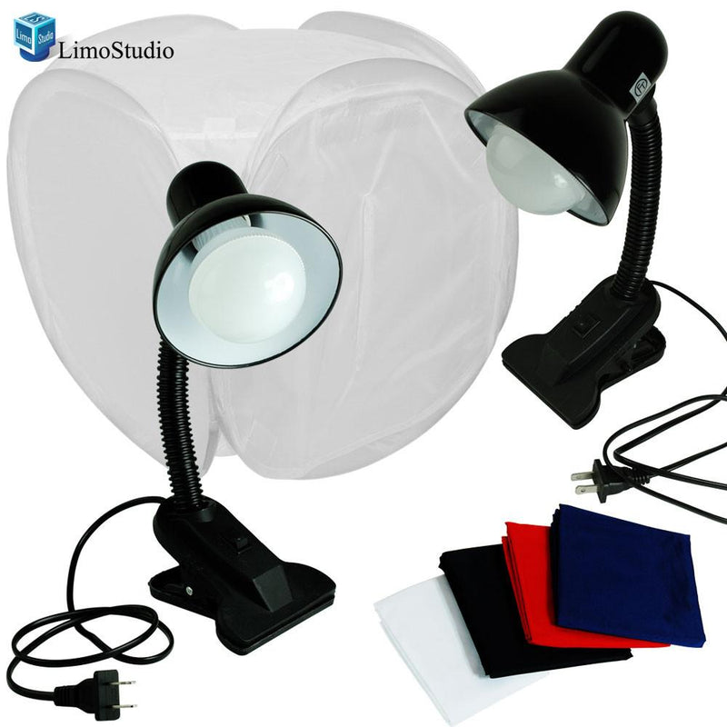 Table Top Photo Box, Lighting Soft Box Photography Lighting Tent Kit, LED Light Stand , AGG1260