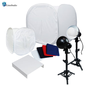 "30"" Table Top Light Kit, Lighting Soft Box Photography Lighting Tent Kit, LED Lighting, Photo Light Set with Clamp and Acrylic Table, AGG1263V2"
