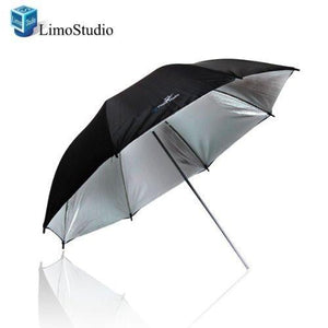 "33"" Black/Silver Photo Umbrella Reflector Photo Video Reflector, AGG126"