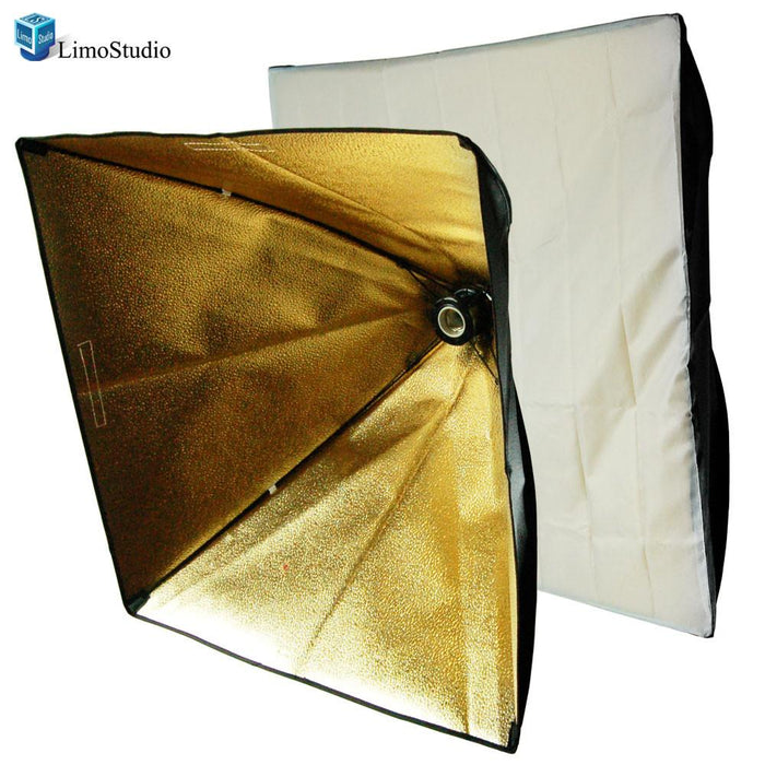 "24"" Photo Studio Light Holder with Black / Gold Softbox Lighting Reflector, AGG1279"