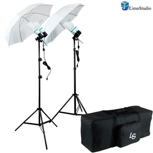 800 Watts Photo Studio Continuous Umbrella Lighting Light Kit with Exclusive Premium Carry Bag, AGG1283
