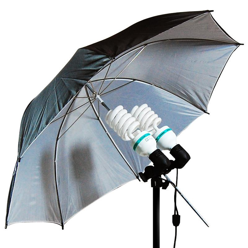 "1400W Output Photo Studio 40"" Umbrella Double Light Lighting Kit With Exclusive Premium Carry Bag, AGG1293"