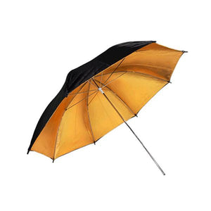 "33"" Photography Double Layer Black/Gold Umbrella Soft Light Box Reflector Photography, AGG129"