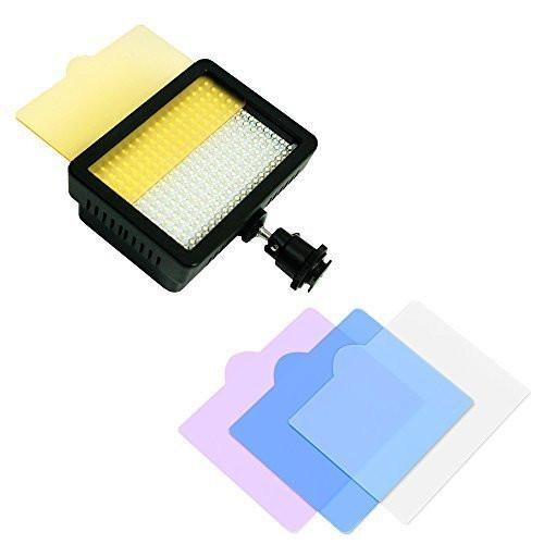 160 LED Video Light Lamp Panel Dimmable for DSLR Camera/Camcorder, LED Light for Canon, Nikon, Pentax, Panasonic, SONY, Samsung and Olympus Digital SLR Cameras, AGG1318