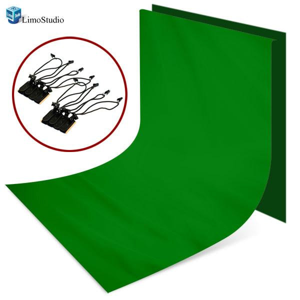 Photo Video Studio 5 x 10 ft. Green Chromakey Background Backdrop and 8pcs Holder kit, AGG1328