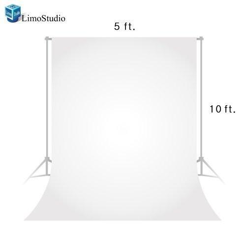 Photo Video Photography Studio 5x10ft White Fabricated Backdrop Background Screen, AGG1333