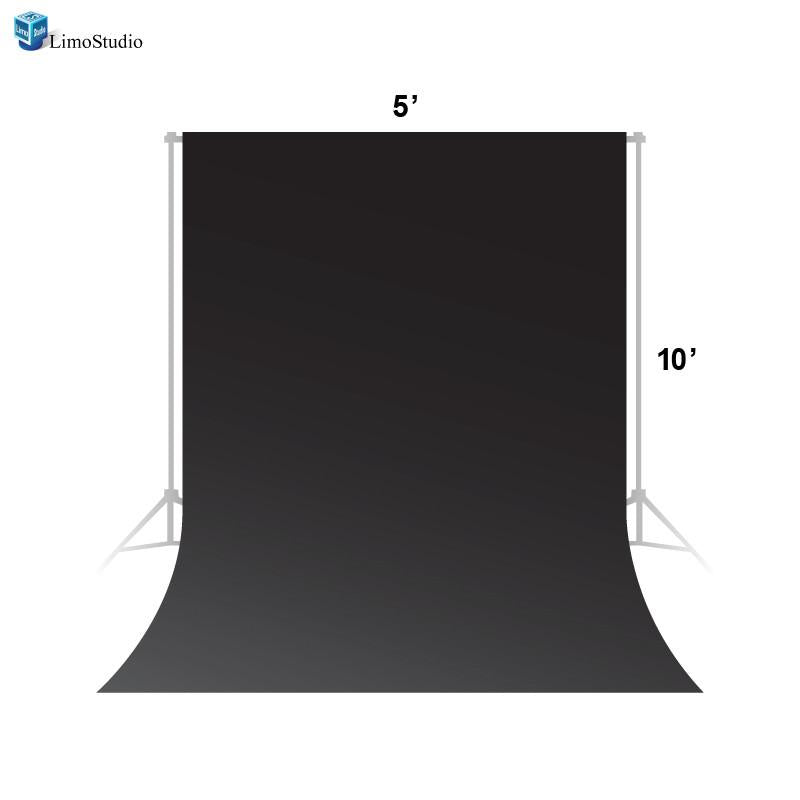 Photo Video Photography Studio 5x10ft Black Fabricated Backdrop Background Screen, AGG1334
