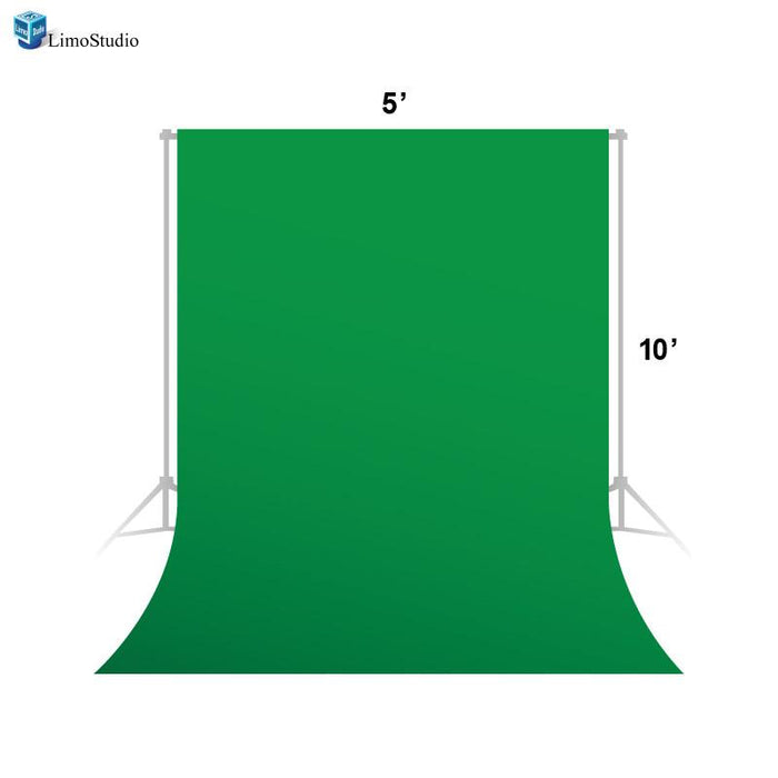 Photo Video Photography Studio 5x10ft Green Fabricated Backdrop Background Screen, AGG1335