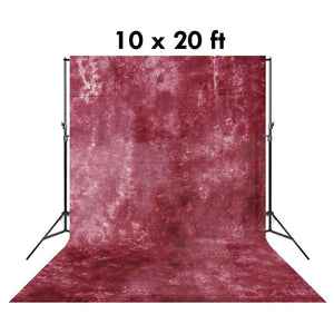 10 X 20 Ft Photo Studio Red Violet and Gray Hand Dyed Backdrop Backgrounds, AGG1352
