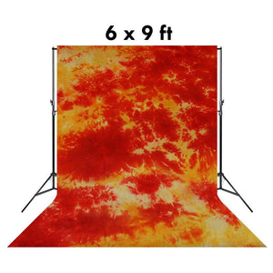 6 X 9 Ft Photo Studio Deep Orange and Yellow Hand Dyed Backdrop Backgrounds, AGG1353