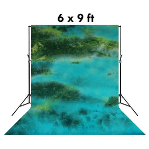 6 X 9 Ft Photo Studio Bottle Green Cloudy Hand Dyed Backdrop Backgrounds, AGG1354