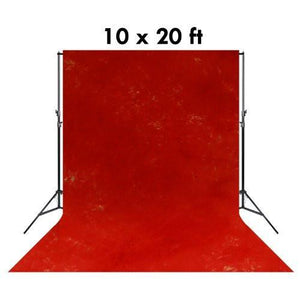 10 X 20 Ft Photo Studio Hand Painted Signal Red Hand Dyed Backdrop Backgrounds, AGG1358