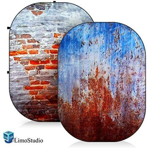 Photo Video Photography Studio 5'x7' Computer Printed 2 in 1 Collapsible Background Disc Panel, AGG1362