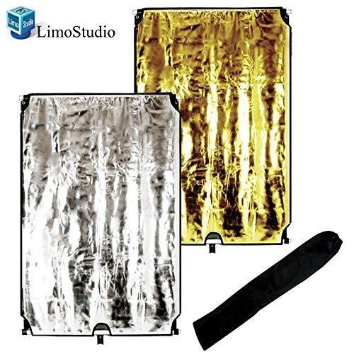 "Photo Video Studio 24""x36"" Gold/Silver/Black/White 4-in-1 Flag Reflector Panel Set, AGG1365"