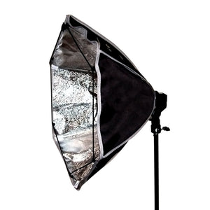 "Photo Video Photography Studio 24"" Morning Glory Reflector and Softbox Lighting Diffuser Black/Silver, AGG1372"