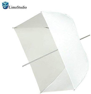 "LimoStudio Photo Video Photography Studio 24"" White Square Softbox Reflector Diffuser Umbrella, SRE1176"