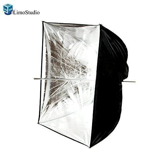 "Photo Video Photography Studio 24"" Silver Square Multifunctional Softbox Diffuser Reflector Umbrella, AGG1374"