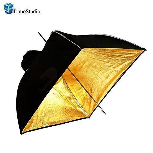 "Photo Video Photography Studio 24"" Gold Square Multifunctional Softbox Diffuser Reflector Umbrella, AGG1375"