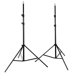 PhotoStudio Kit with Two 7 Foot Stands with Brackets, 24-Inch White, Square Reflector Umbrellas, and Flash Reflector Softbox Diffuser. Comes With a Double Pouch Carry Bag, AGG1376