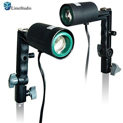 2x Photography Studio Single Light Head Bulb Holder E26/E27 with Hot Shoe Mount, AGG1383