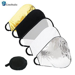 "Photography Photo Studio 24"" Multi Triangle Light Reflector Diffuser with Grip, AGG1399"