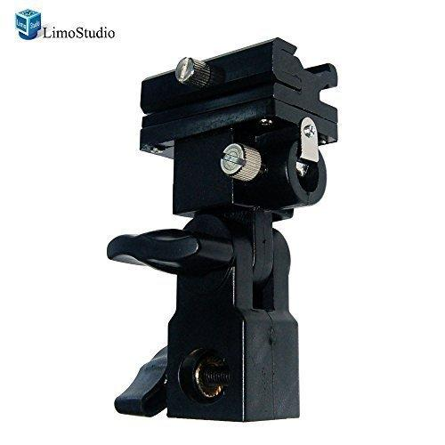 Photo Video Studio Flash Hot Shoe Mount Adapter Trigger Umbrella Holder Swivel Light Stand Bracket, AGG1407
