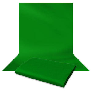 Photography Studio Double LED Lighting Kit with Chromakey Green Backdrop Studio Background Support Kit, AGG1417