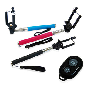 3Pcs Selfie Stick Set Portrait Camera Monopod Extendable Cell-phone Tripod with Bluetooth Remote Shutter, AGG1432
