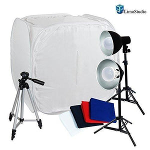 "Table Top Photography 30"" Tents Softboxes Continous LED Light with 50"" Portable Tripod for Camcorder Camera, AGG1453"