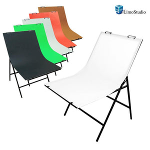 Photography Photo Studio Foldable Photo Shooting Table with 5 Color Paper Background Set, AGG1474
