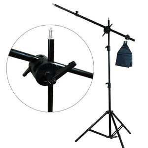 Photography Photo Studio Foldable Photo Shooting Table, Background Clamps with Boom Stand Softbox Continuous Lighting Kit , AGG1477V2