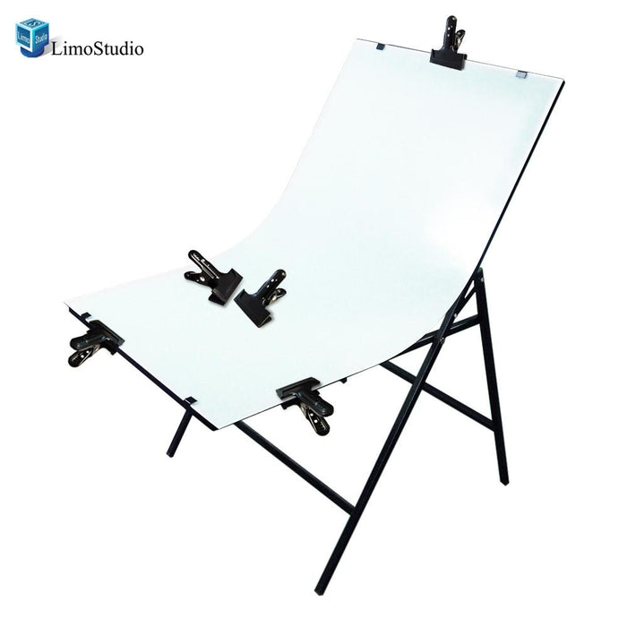 Photography Photo Studio Foldable Photo Shooting Table Background with 6PCS Background Clamps, AGG1479