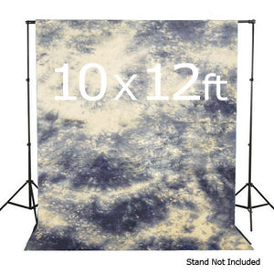 10 X 12 Ft Photo Studio Hand Dyed Blue Muslin Backdrop Backgrounds, AGG148