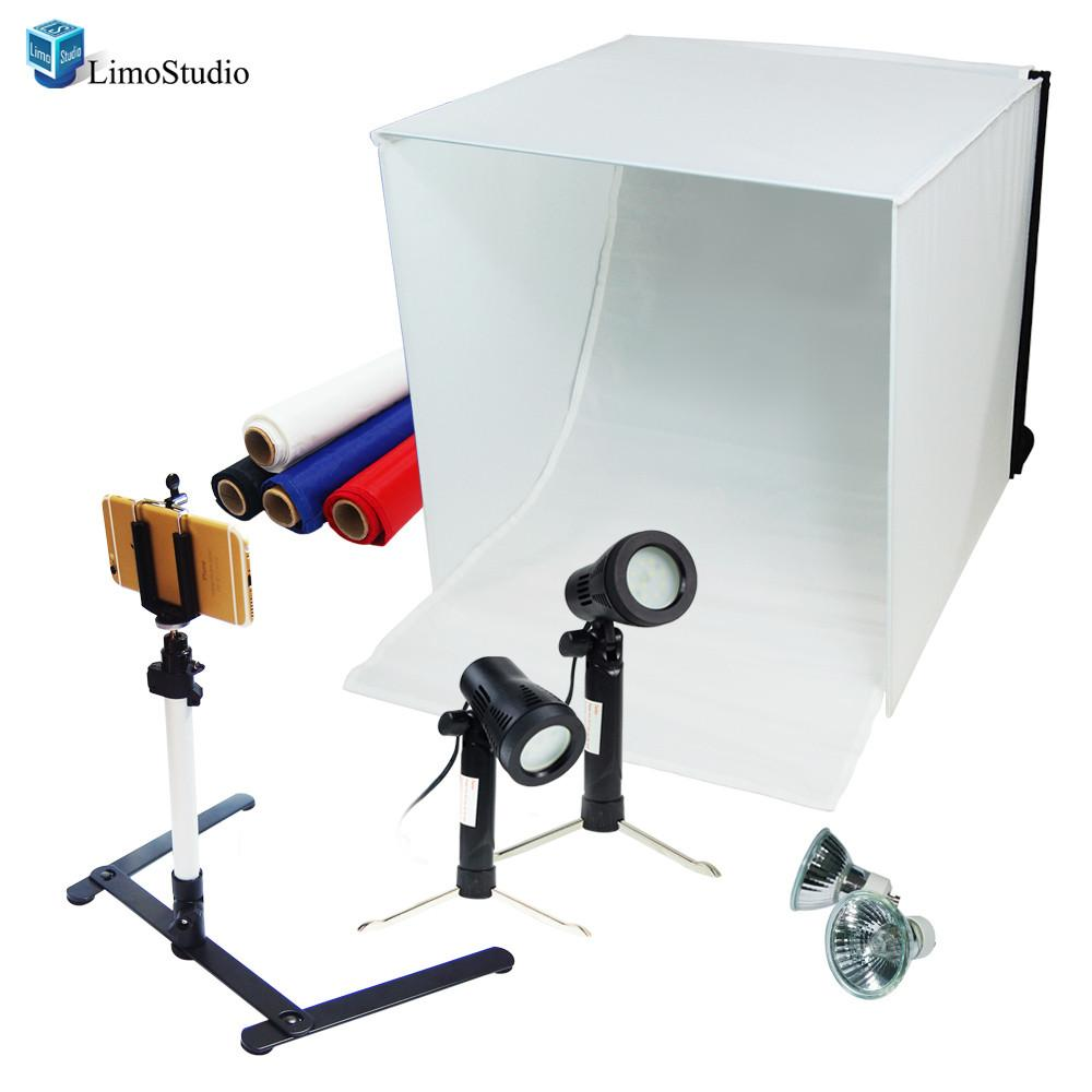 Table Top Photography Studio Light Tent Kit in a Box 24  Photo Tent Camera Stand Tripod with Cell Phone Holder LED Light Set Mini Camera Stand ...  sc 1 st  Limostudio & Table Top Photography Studio Light Tent Kit in a Box 24
