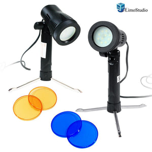 2 Sets Photography Continuous LED Portable Light Lamp for Table Top Studio with Color Filters, Photography Photo Studio, AGG1501