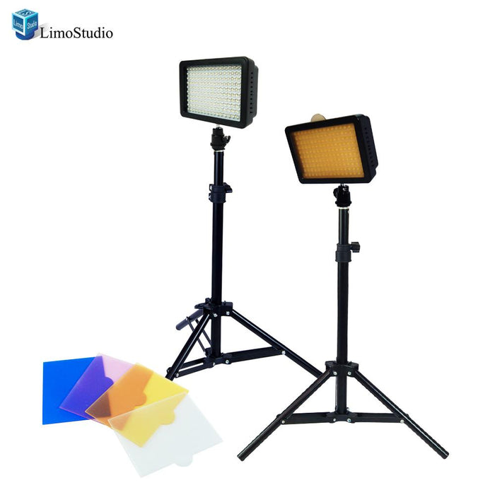 "Dimmable 160 LED Video Light Lamp Panel for DSLR Camera DV Camcorder with 28"" Light Stand, AGG1502"
