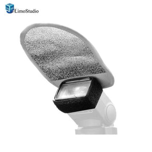 Photo Studio White Diffuser Silver Speedlite Reflector for Shoe Mount Flashes , AGG1504